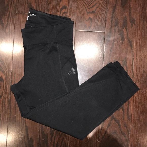 Adidas Black Cropped Workout Leggings